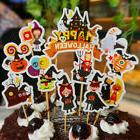11pcs Halloween Cake Cupcake Flag Topper Party Dessert Bakin