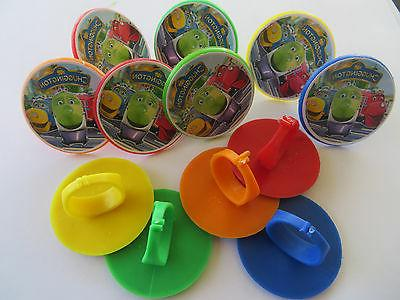 12 chuggington rings cupcake toppers birthday party