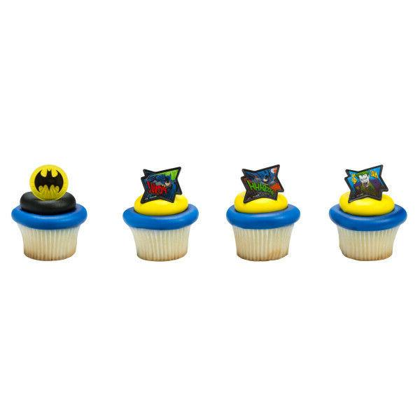 12 ct batman cupcake cake rings birthday