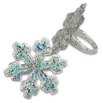 12 ct Holographic Frozen SNOWFLAKE Winter  Birthday Party Cu