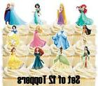 12- DISNEY PRINCESS Cupcake Toppers / Cake Toppers / Birthda
