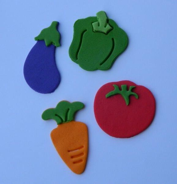 12 edible VEGETABLE PETER RABBIT INSPIRED carrot cake topper