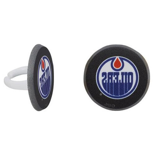 12 Edmonton Oilers NHL Hockey Cupcake Rings Toppers Party Fa