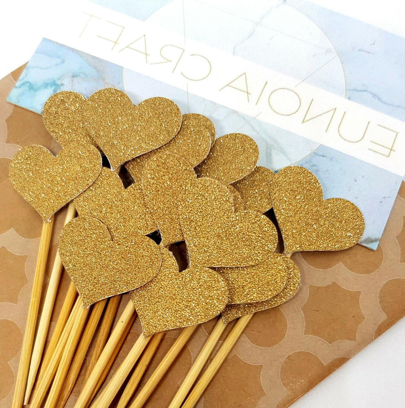 12 Heart Cupcake Toppers/Picks | & Wedding