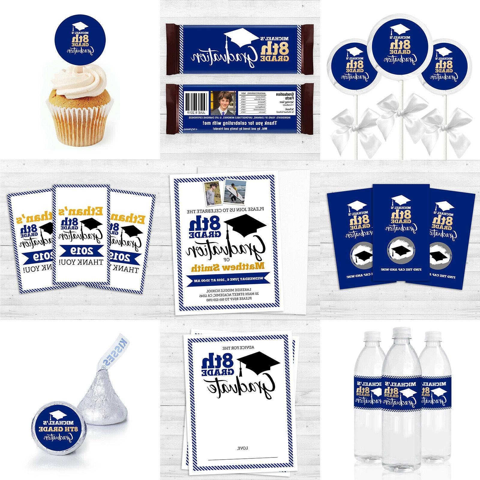 12 Graduation Cupcake for grade/ School in Personalized