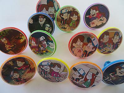 12 gravity falls rings cupcake toppers birthday