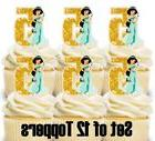 12 - JASMINE Disney Princess Aladdin Cupcake Toppers / Birth