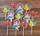 12- LITTLE MERMAID Cupcake Toppers / Cake Toppers / Birthday