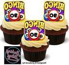 12 Novelty Bingo 90th Birthday Edible Cake Cupcake Toppers D