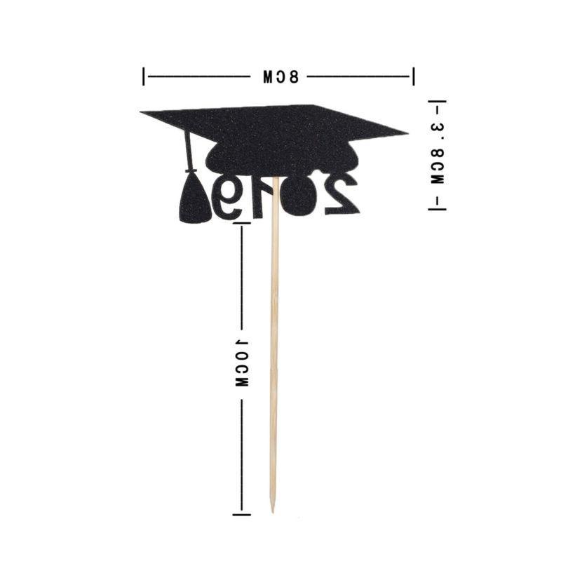 Paper Cupcake Decor Picks Graduation Birthday