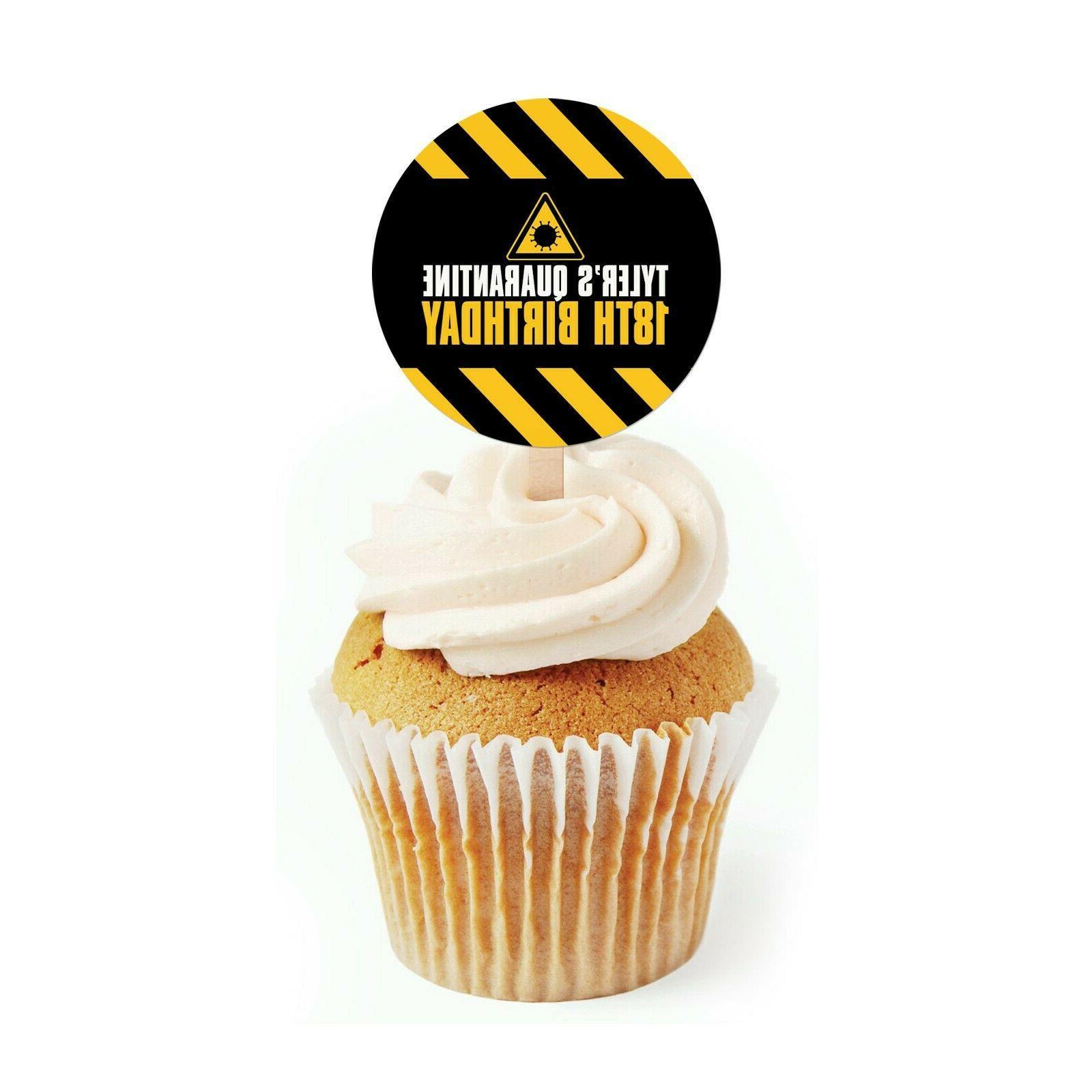 12 quarantine cupcake toppers quarantine birthday or