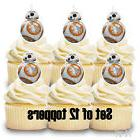 12- Star Wars BB8 Cupcake Toppers / Cake Toppers / Birthday