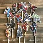 12- SUPER HERO Cupcake Toppers / Cake Toppers / Birthday Par