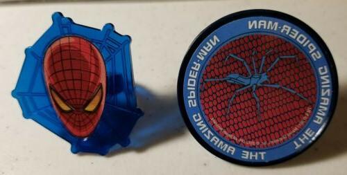 100 SUPERHERO SPIDERMAN CUPCAKE TOPPER RINGS - PARTY FAVORS