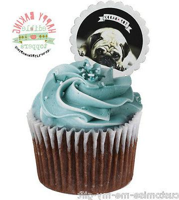 12 Top Dad PUG Cupcake Toppers can Personalise | fathers Day