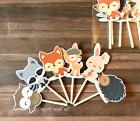 12- WOODLAND ANIMAL Cupcake Toppers / Cake Toppers / Birthda