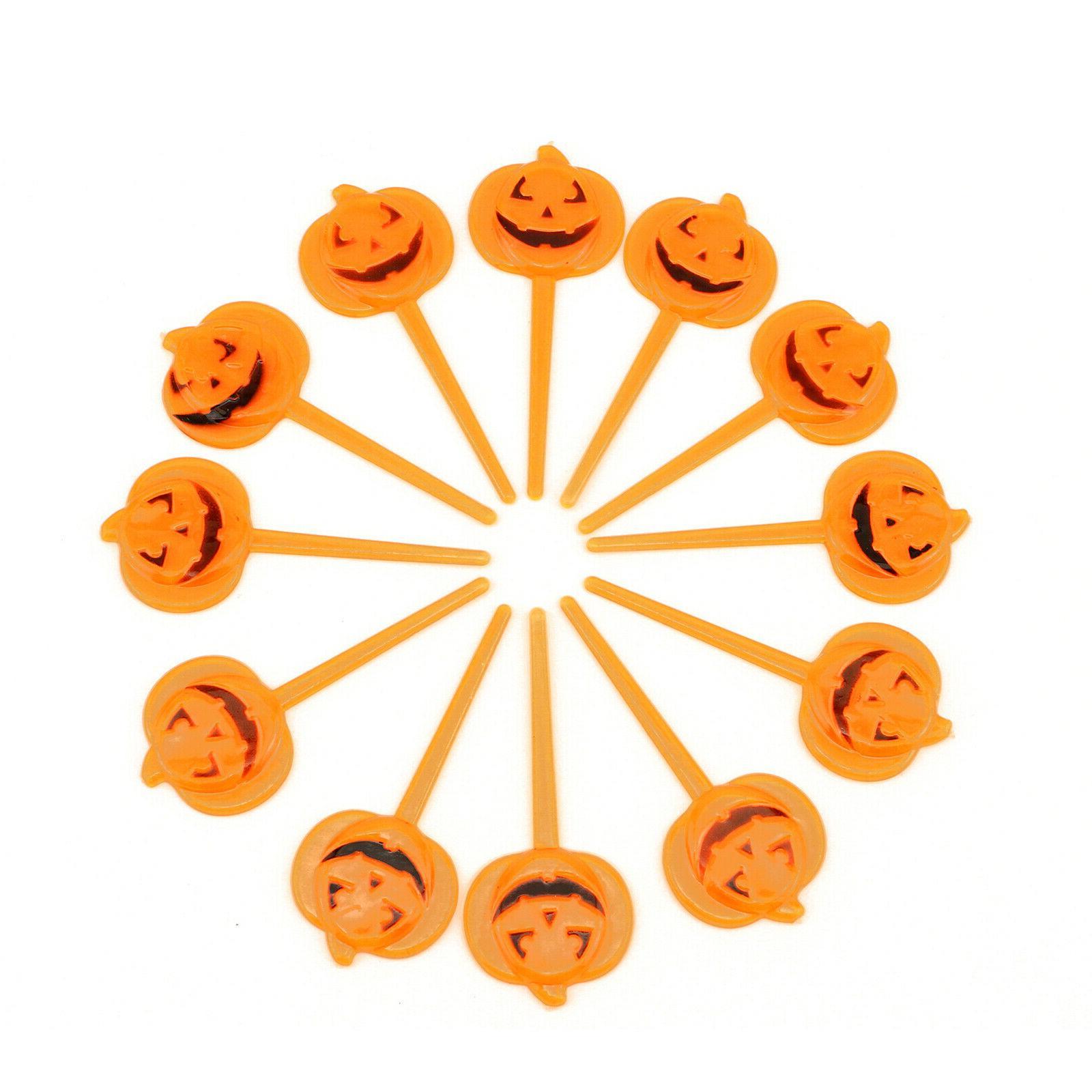 12pc halloween party prop cupcake decoration pumpkin