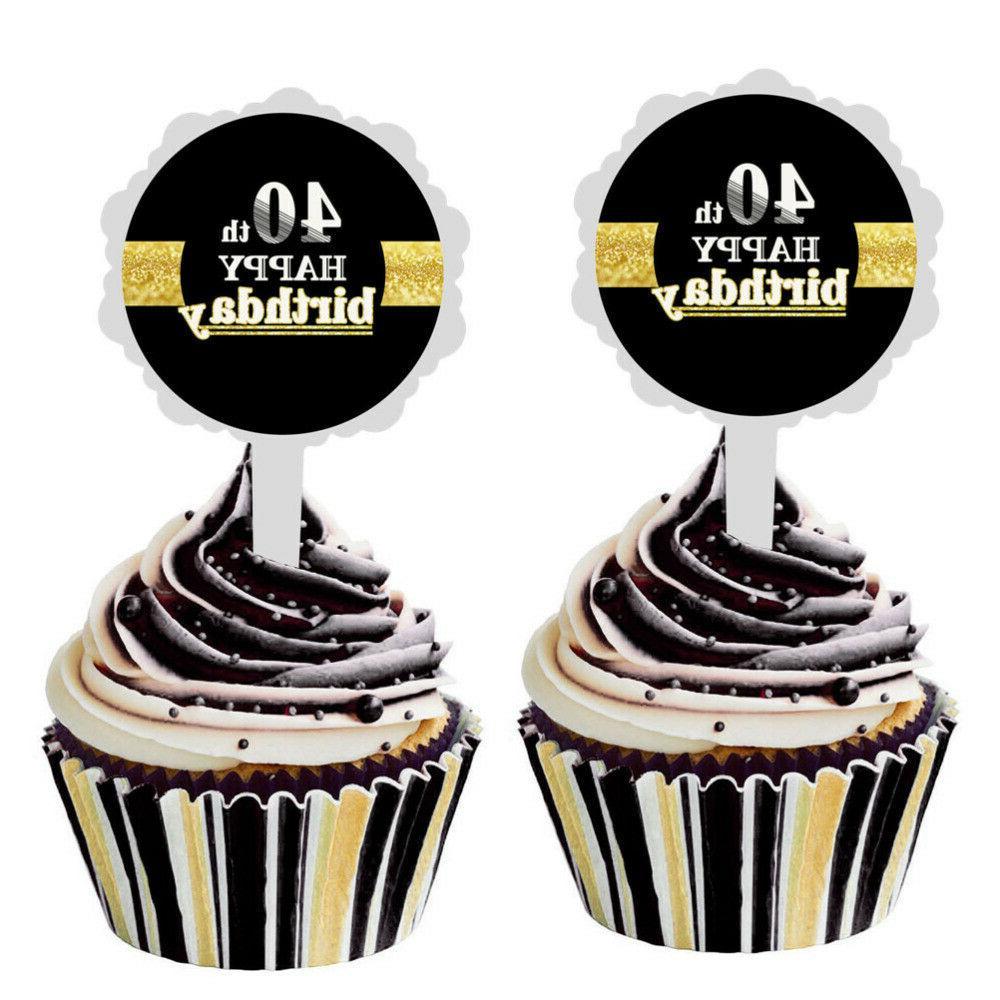 12pcs Happy Birthday Cake Topper Cake Cupcake Cake