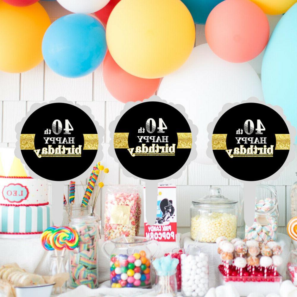 12pcs 40th Happy Cake Cake Cupcake Picks