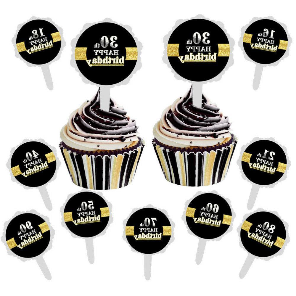 12pcs 50th Cupcake Cake