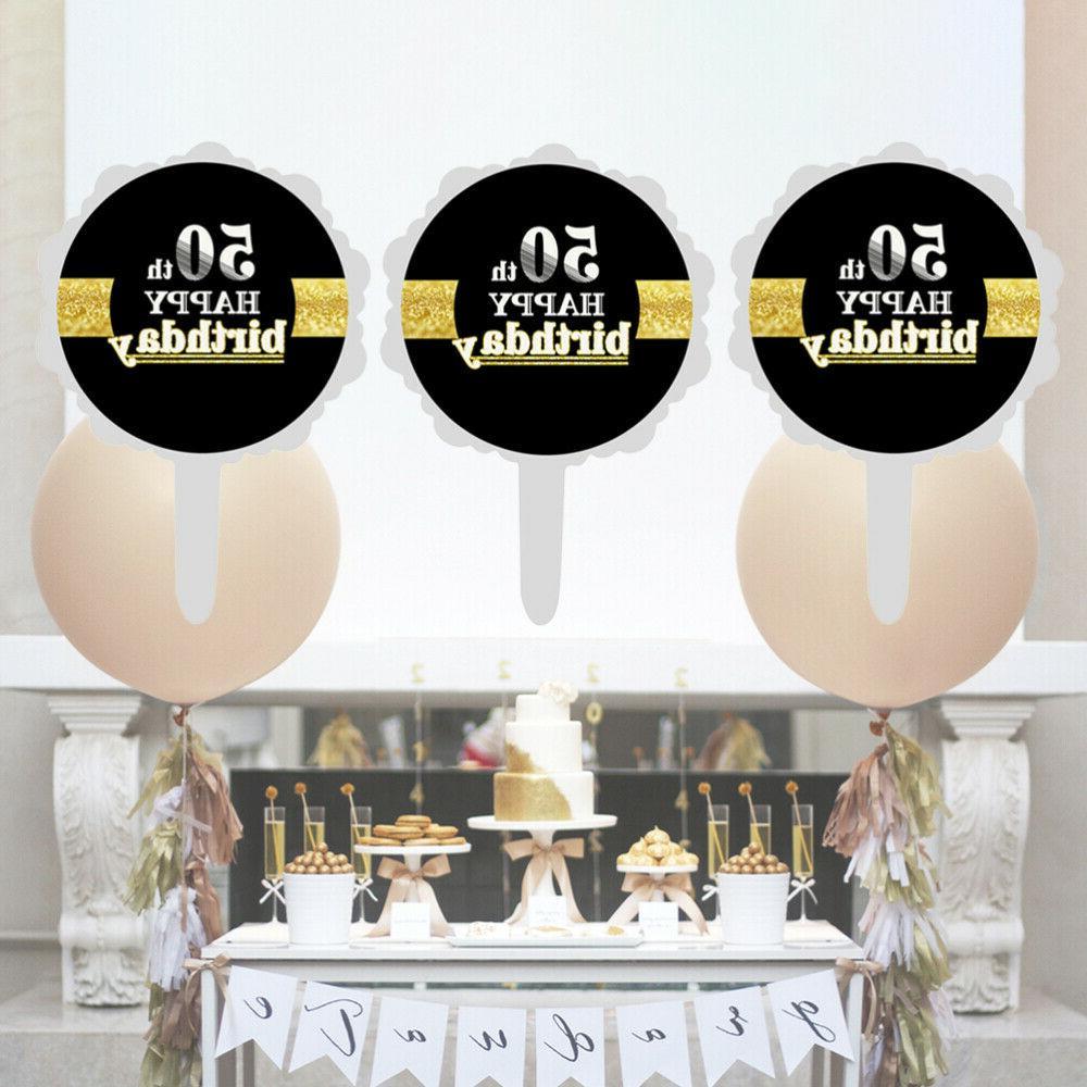 12pcs 50th Birthday Cake Topper Cupcake Picks Cake