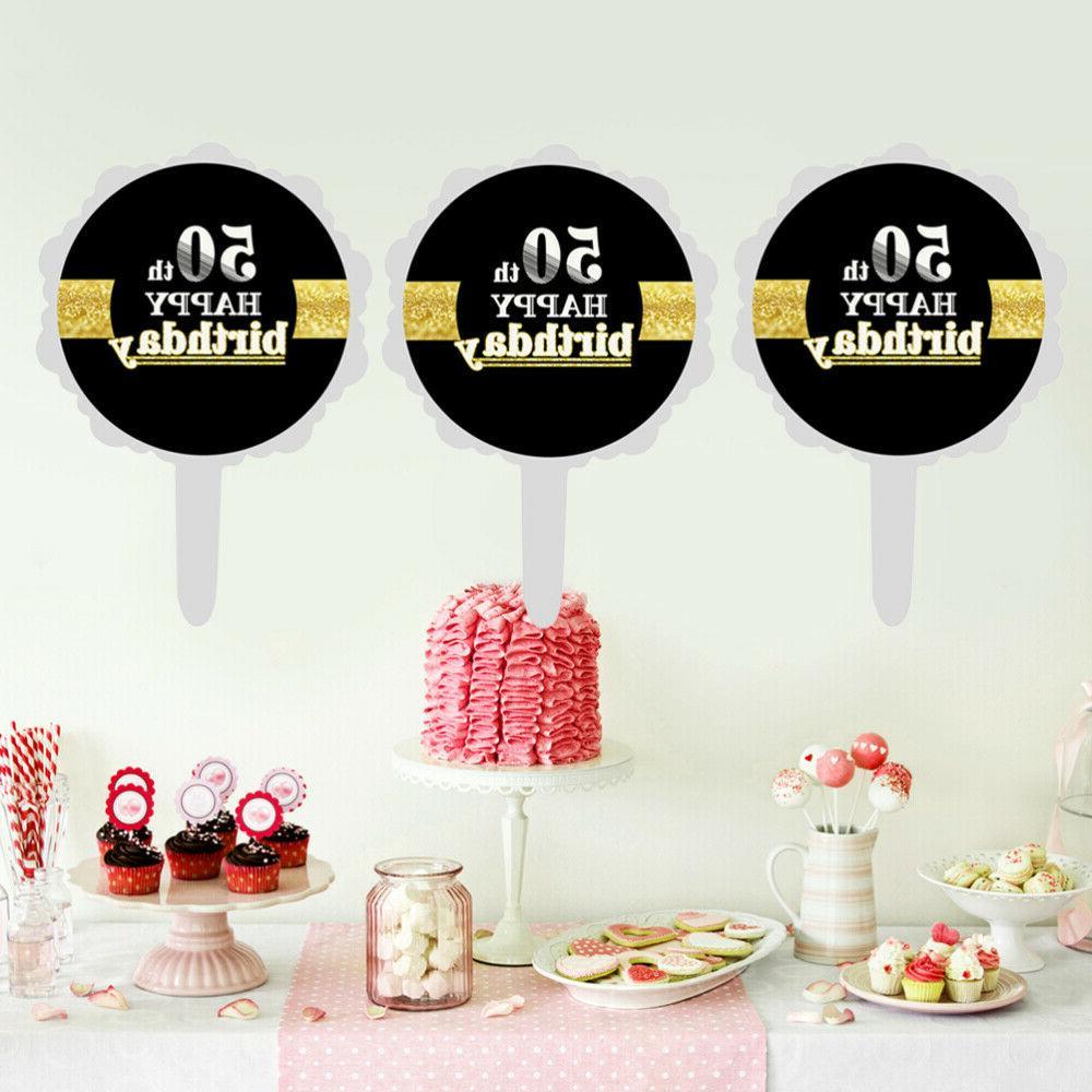 12pcs 50th Happy Cake