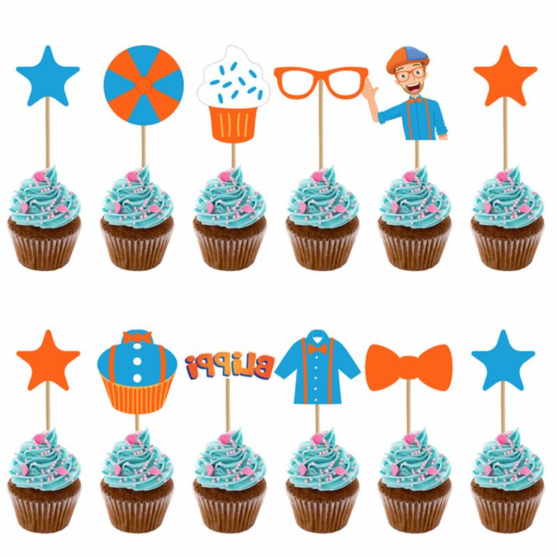 12pcs/set Blippi Picks Birthday Supplies