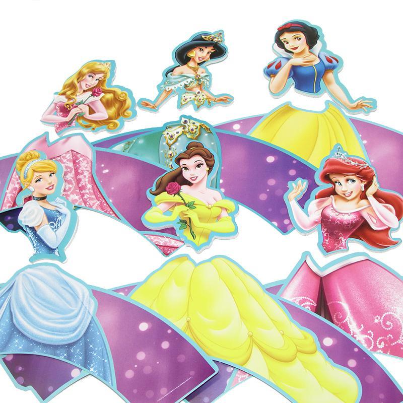 12sets Princess <font><b>Kids</b></font> <font><b>Cupcake</b></font> Cases Baby Shower <font><b>Party</b></font>