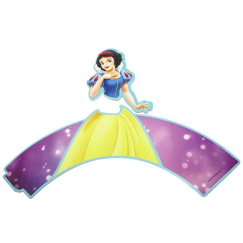 12sets Snow White Princess <font><b>Cupcake</b></font> <font><b>Kids</b></font> <font><b>Cupcake</b></font> <font><b>Party</b></font>