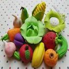 13 EDIBLE SUGAR VEGETABLES FRUITS CAKE CUPCAKE TOPPERS DECOR