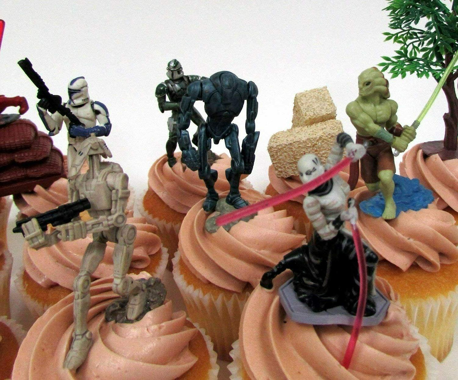 STAR 14 CUPCAKE Topper Set Storm Troopers,