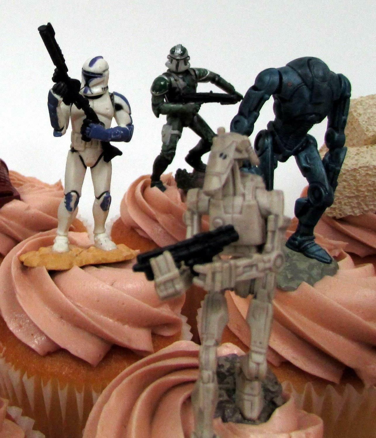 STAR WARS CUPCAKE Toppers Featuring Troopers,