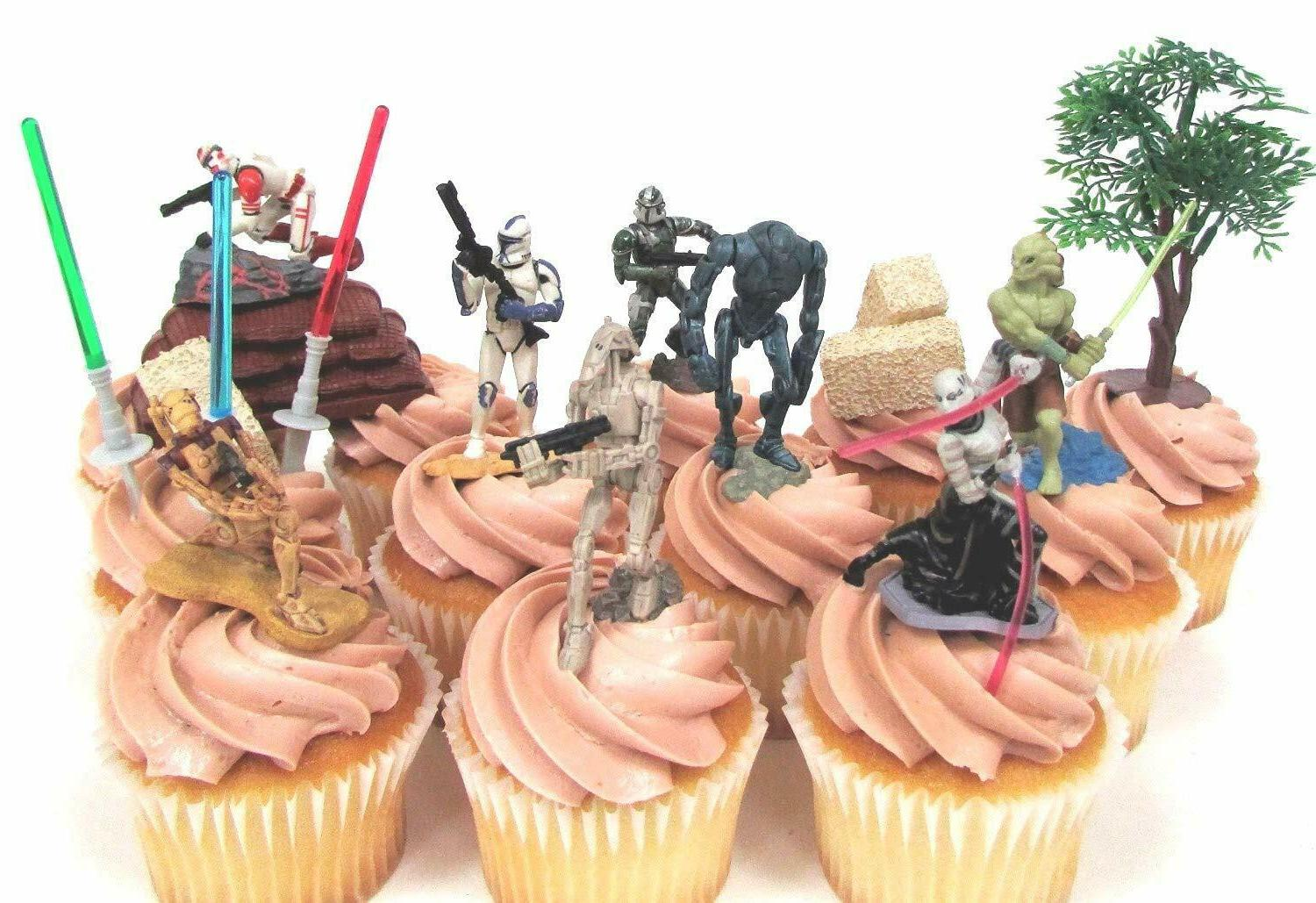 STAR WARS 14 CUPCAKE Cake Featuring Storm Troopers,