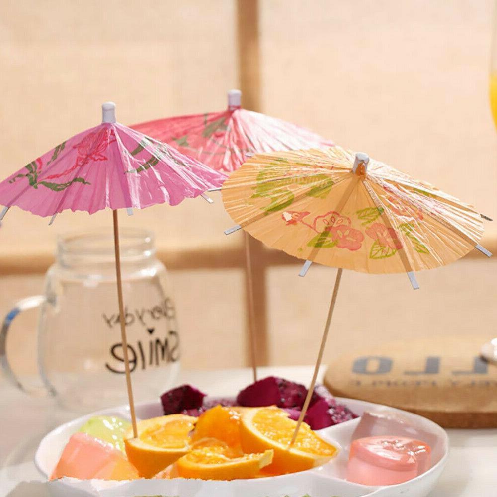 144Pcs Picks Cupcake Paper Umbrella