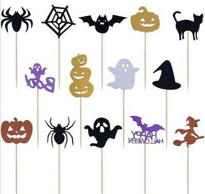 14pcs cartoon cupcake toppers cake insert cards