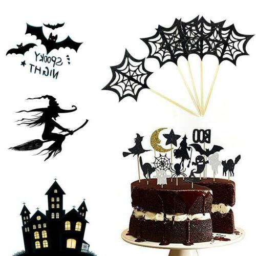 14 Get Halloween Cupcake Sparkly Set Bat Ghost