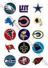 "2"" NFL Football NFC Team Logos Edible Print Premium Cupcake"