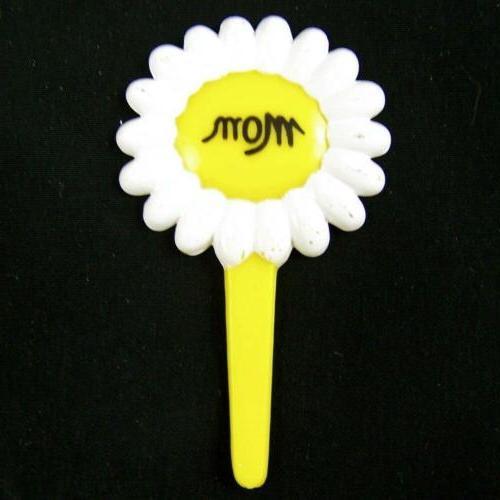 15 Mom Cupcake Picks Yellow Daisy Flower Happy Mother's Day