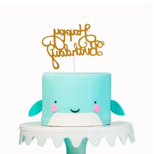 15 PCS Happy Birthday Cake Topper Cupcake