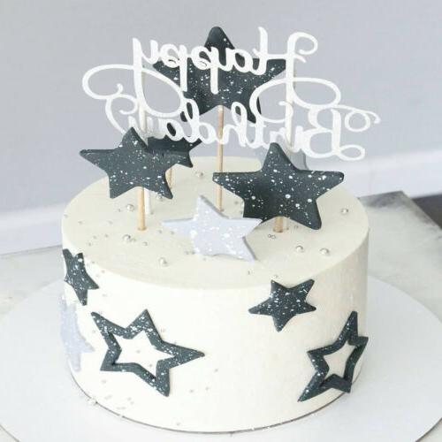 15 Happy Topper Cupcake Dessert Decor
