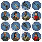 16x EDIBLE Fortnite Cupcake Toppers Birthday Party Wafer Pap