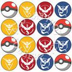 16x EDIBLE Pokemon Go Teams Birthday Cupcake Toppers Wafer P