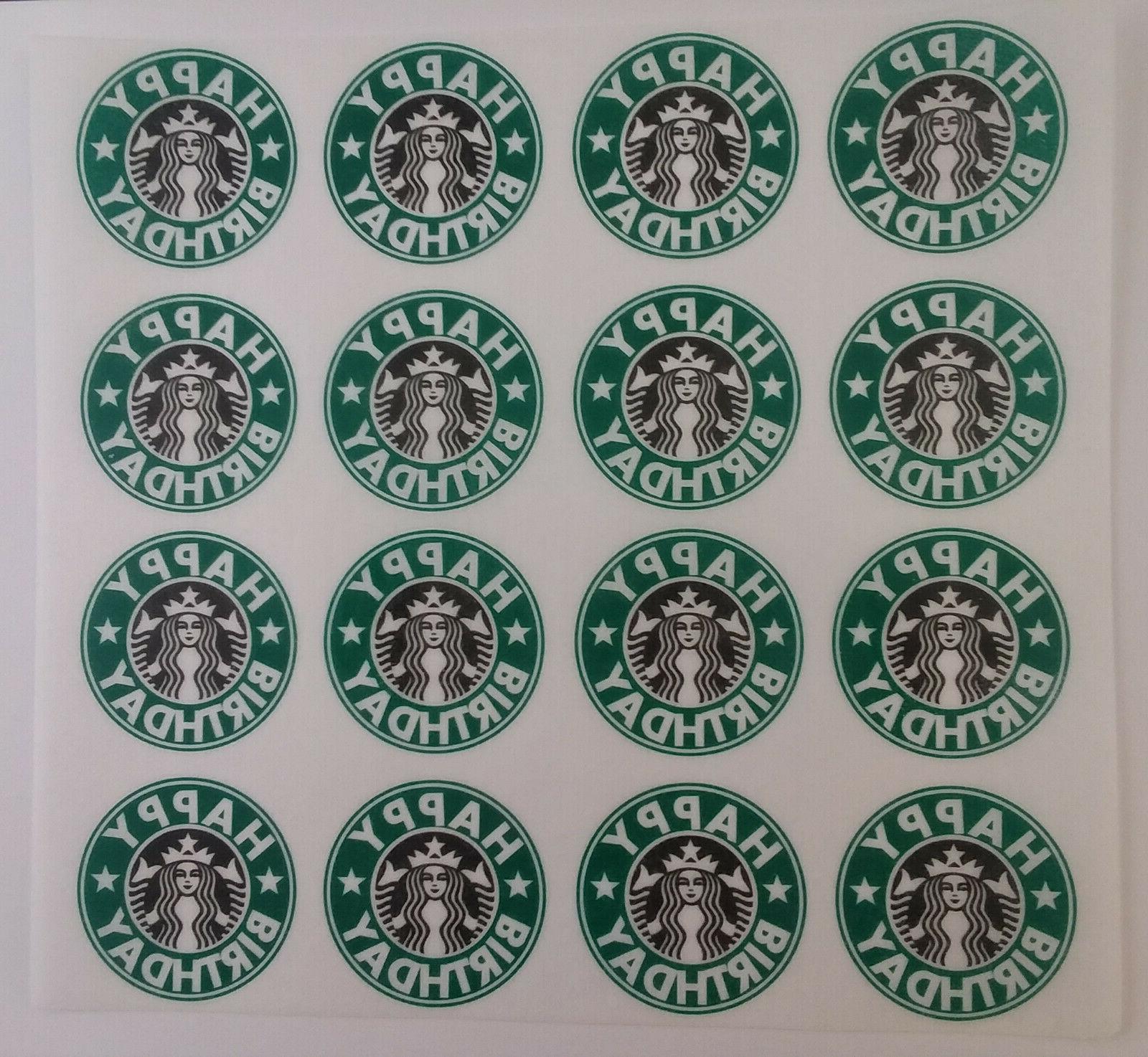 16x Starbucks Birthday Cupcake Wafer
