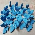 18 EDIBLE SUGAR paste butterflies cake cupcake toppers decor