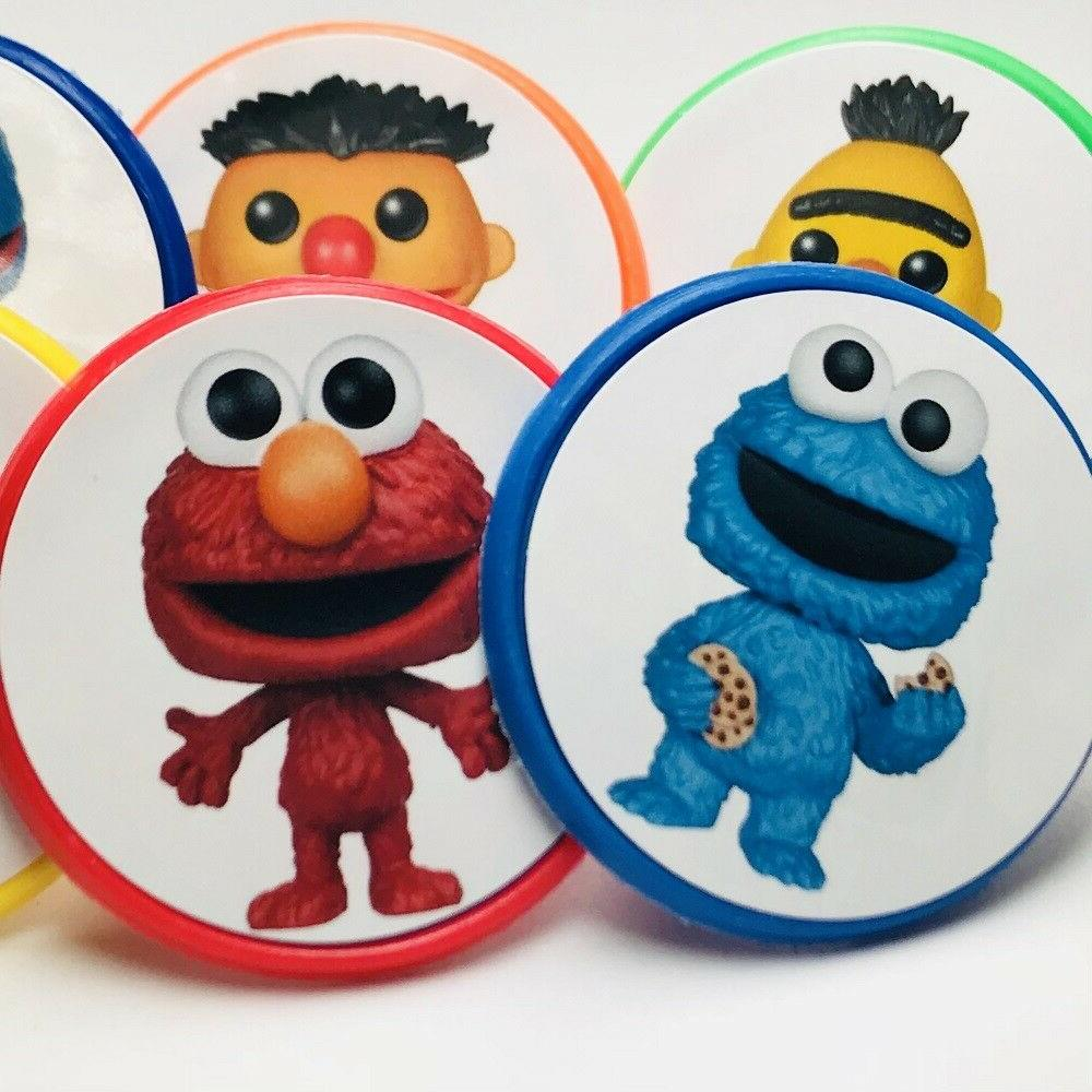 18 Sesame Street Funko Cupcake Toppers Rings Birthday Party