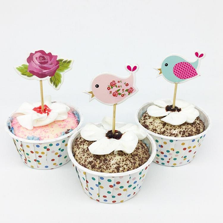 18pcs/lot <font><b>Cupcake</b></font> <font><b>Topper</b></font> Kid Birthday Party Decorations Baby Cake