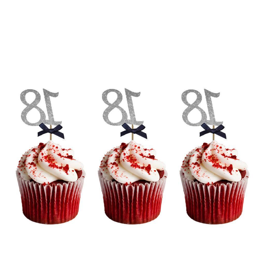 18th Cupcake –Glittery Pink 10