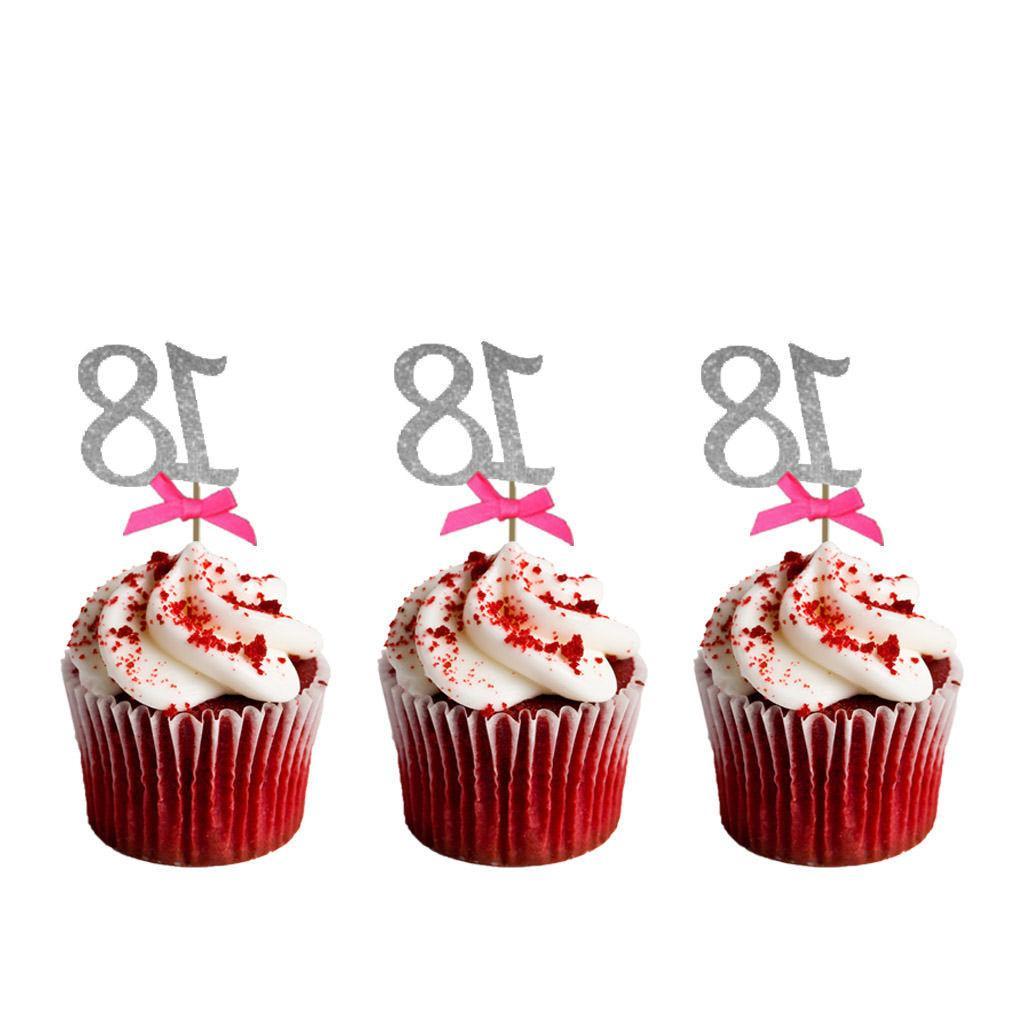18th Birthday Cupcake Pink -Pack 10