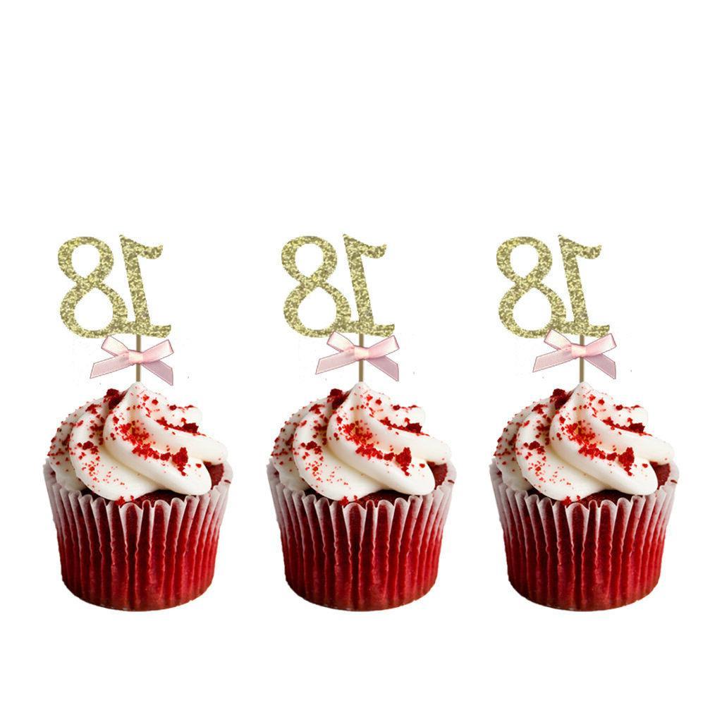 18th Birthday –Glittery Pink Bows 10