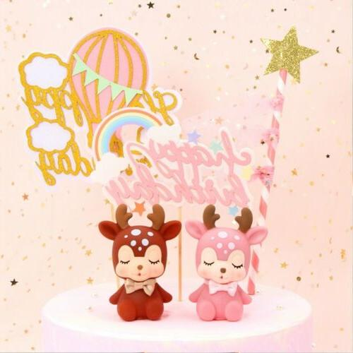 1PC Cake Topper Glitter Birthday Paper